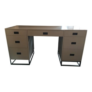 Restoration Hardware White Avalon Storage Desk