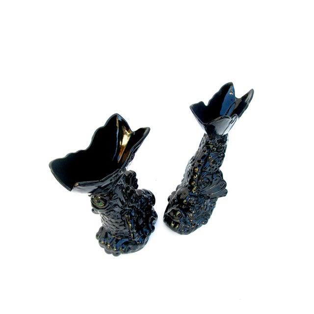 Asian Dragon Koi Figural Vases - A Pair - Image 7 of 10