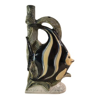 Mid-Century Italian Fish Bottle Vase
