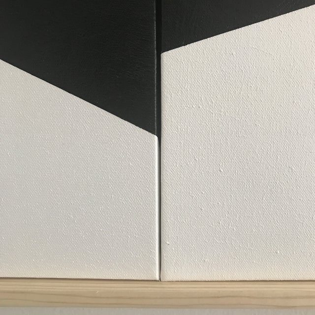 "Jason Trotter Original Acrylic Painting ""Black on Point Triptych Jet0462"" - Image 3 of 4"