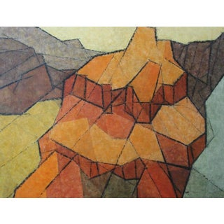 """1960s Hildegarde Haas """"Canyon Dome"""" Painting"""