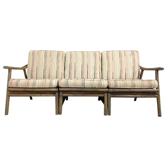 Vintage Mid Century Modern Bamboo Rattan Sofa Chairish