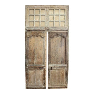 Pair of 18th Century Doors with Transom