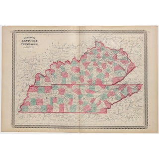 Original Map of Kentucky and Tennessee, 1862