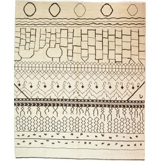 """Moroccan Hand-Knotted Rug - 8' x 9' 9"""""""
