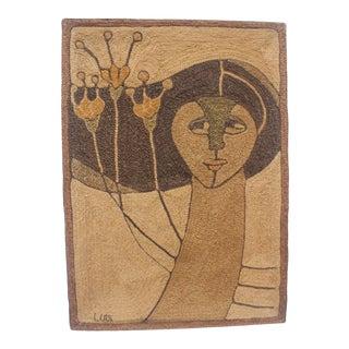 Woven Maguey Fiber Art Tapestry
