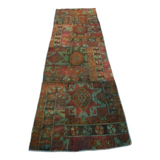 "Vintage Patchwork Kurdish Runner - 2'11"" X 10'"