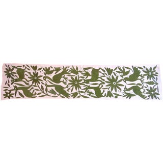 Hand Woven Green Table Runner
