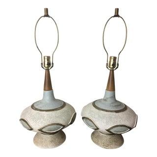 Pair of Vintage 1961 Pieri Ufo Mid Century Table Lamps