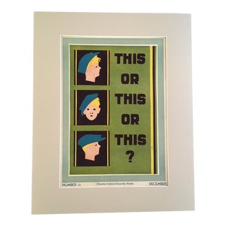 """Vintage 1930's """"This or This or This?"""" Classroom Poster"""