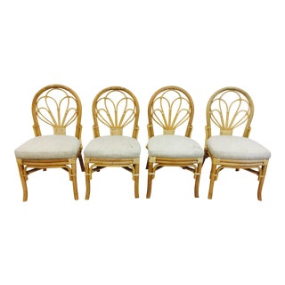 Vintage Wicker & Rattan Chairs - Set of 4