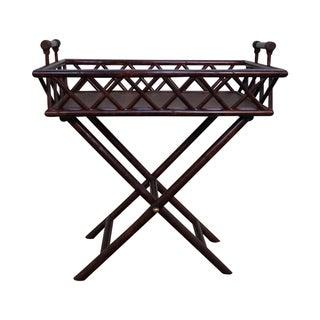 Rattan Bamboo Server Tray Top Table Maitland Smith