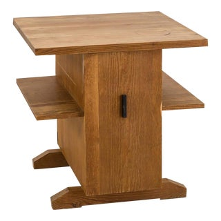 Small Coffee Table, Mini Bar or Bedside Table in Pine from Sweden, 1930s-1940s