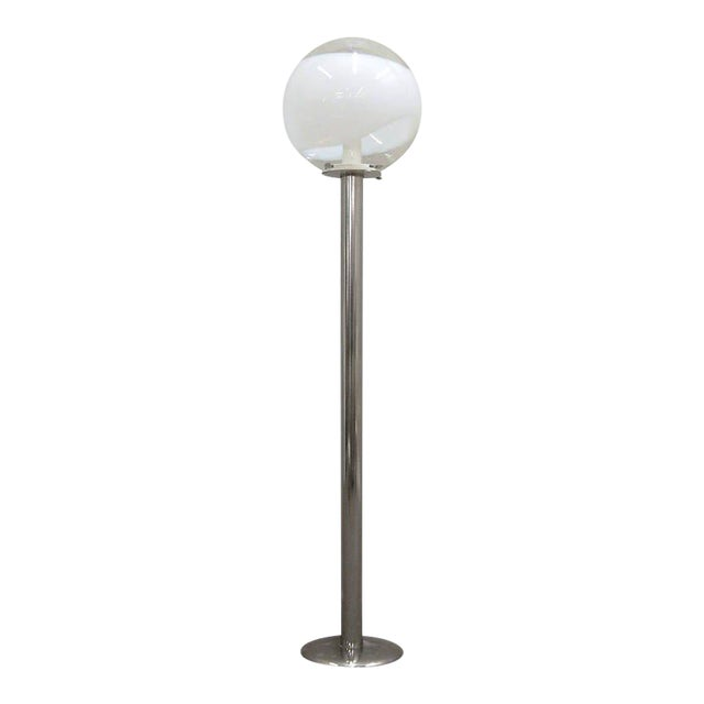 1960s Mazzega Style Tubular Chrome and Murano Glass Floor Lamp - Image 1 of 9