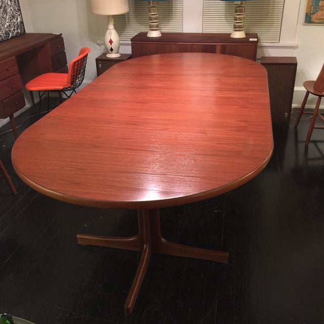 Solid Teak Table With 2 Leaves by J. O. Carlsson - Image 5 of 10