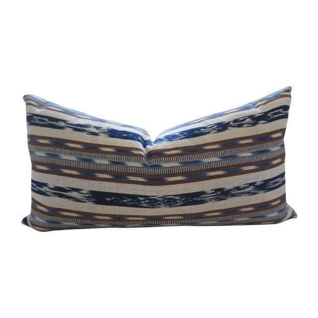 Image of Hand-Loomed Ikat Lumbar Pillow