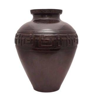 Taisho bronze vase