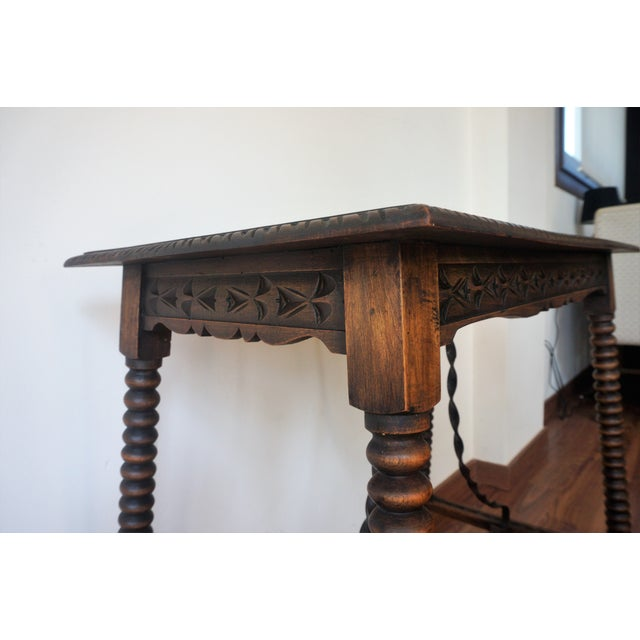 19th century spanish side table end table chairish for Table th width ignored