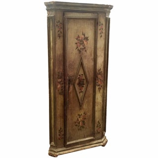 18th Century Painted French Corner Cupboard