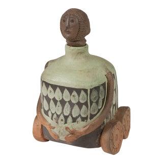 Ceramic Figure on Wheels by Albert Thiry