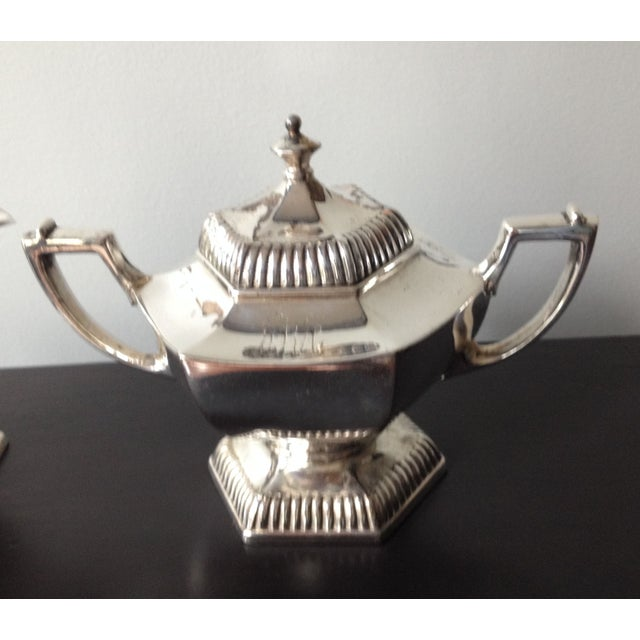 Silver Cream & Sugar Servers - Image 4 of 8