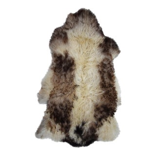 Genuine Beige Brown Sheepskin Pelt - 2′9″ × 4′2″