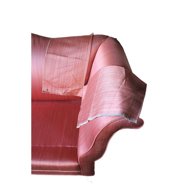 Antique Chippendale Silk Down Sofa - Image 9 of 11