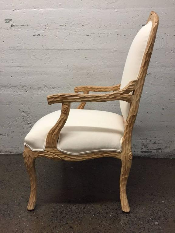 Carved French Country Armchair   Image 3 Of 7