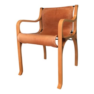 Saddle Leather 'Chair B' by Cristian Valdes