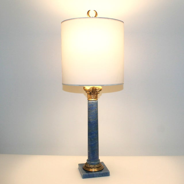 Hollywood Regency Neoclassical Column Lamps - Pair - Image 9 of 9