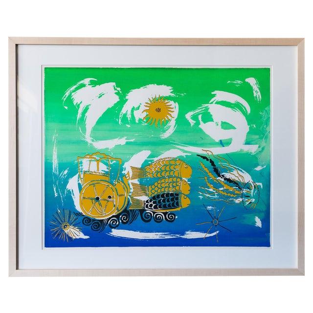 Barbara Vada Benson Seascape Serigraph - Image 1 of 6