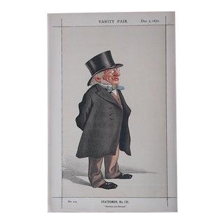 Antique Vanity Fair Lithograph