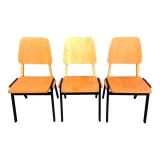 Danish Stacking Chairs Circa 1950s