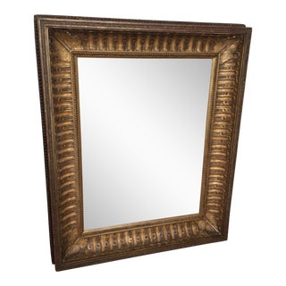 Antique Framed Carved Wood Mirror