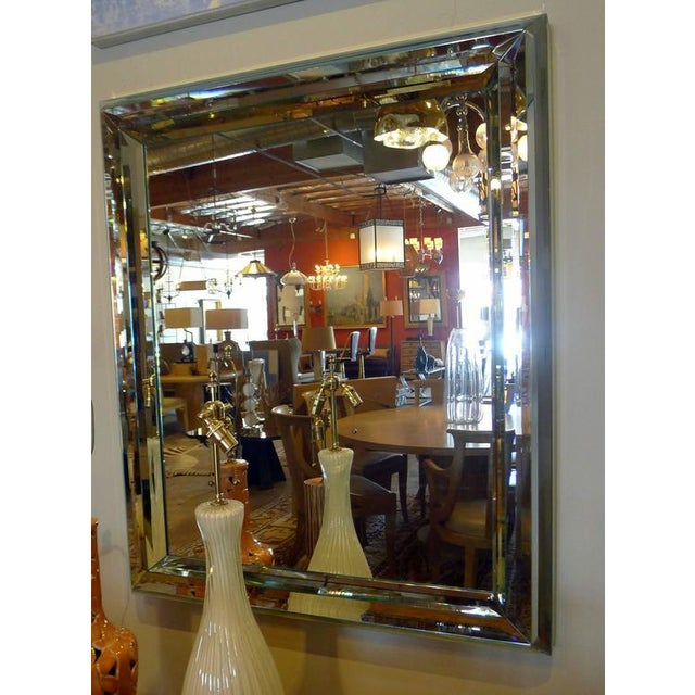 Large All-Glass Wall Mirror - Image 6 of 7