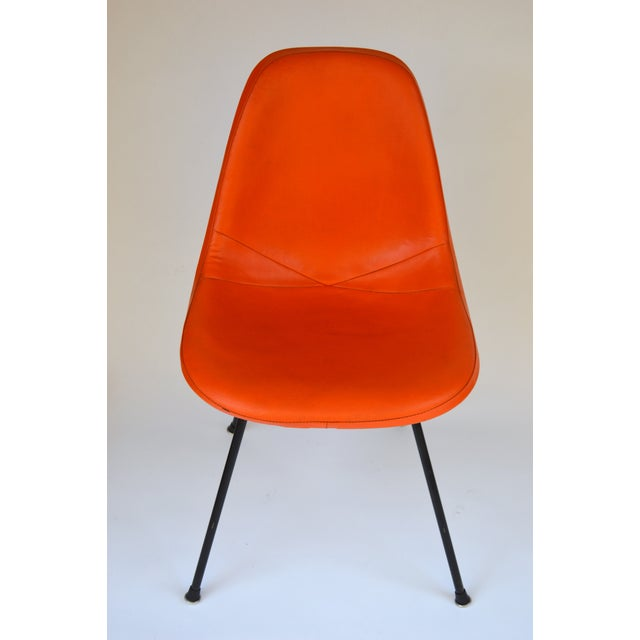 Herman Miller Eames Orange Vinyl Side Shell Chair - Image 4 of 9