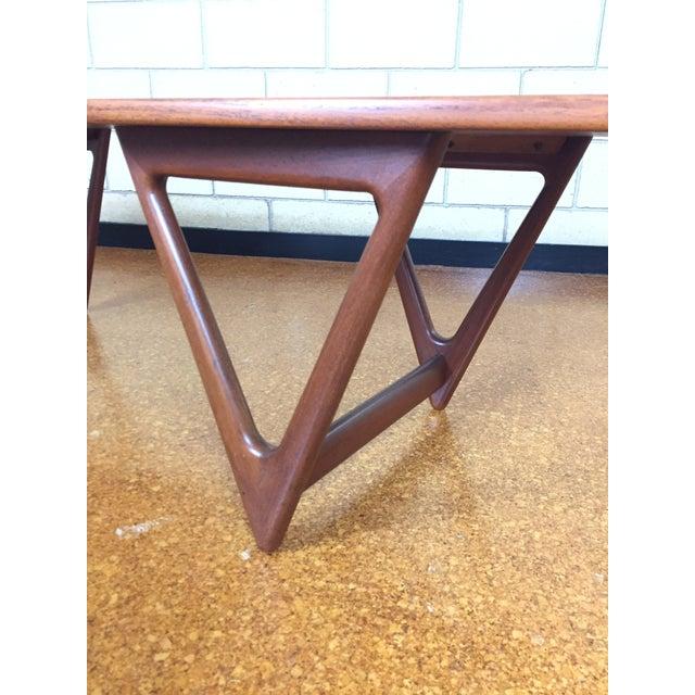 Mid-Century Danish Modern Teak Coffee Table by Kurt Ostervig for Jason Mobler - Image 4 of 11