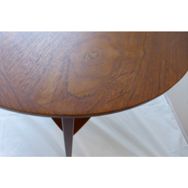 Danish Modern Peter Hdivt Style Side Table - Image 6 of 8