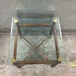 Image of McGuire Bamboo & Glass Side Table