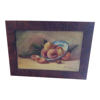 """Fruit"" Still Life Oil Painting"