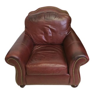 Ethan Allen Leather Club Chair