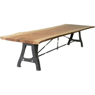 Solid Wood Industrial Dining Table