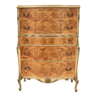 Vintage French Highboy Dresser