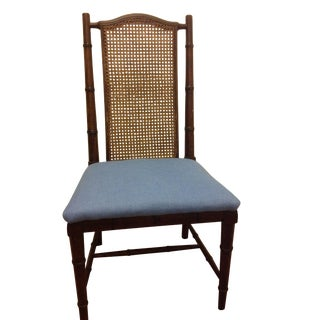 Faux Bamboo and Cane Chair
