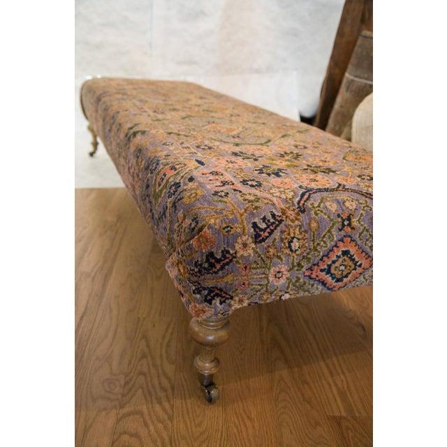 Vintage Persian Rug Ottoman - Image 5 of 5