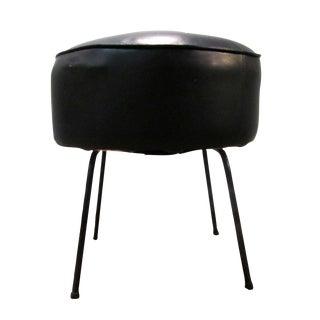 Danish Modern Atomic Black Stool