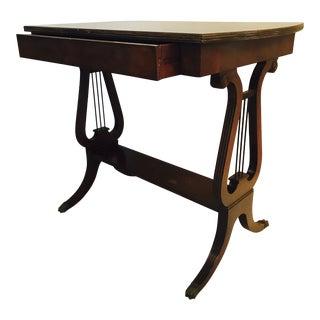 Lyre Side Table a La Mahogany
