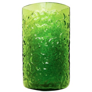 Blenko Green Glass Texture Vase