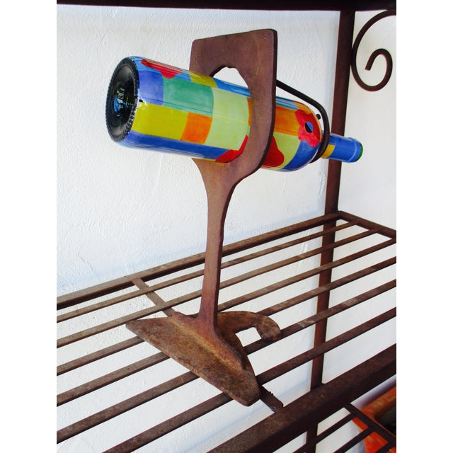 Mid-Century Modern Abstract Sculptural Wood Wine Holder - Image 6 of 11
