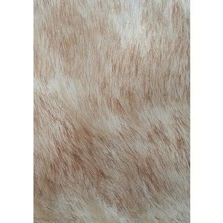 Brown & Cream Shaggy Faux Fur Fabric - 11 Yards